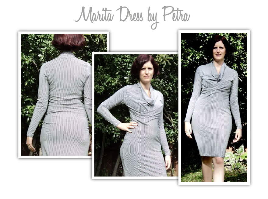 Marita Knit Dress Sewing Pattern By Petra And Style Arc - Great easy to wear knit dress