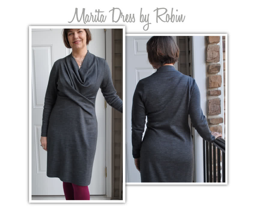 Marita Knit Dress Sewing Pattern By Robin And Style Arc - Great easy to wear knit dress