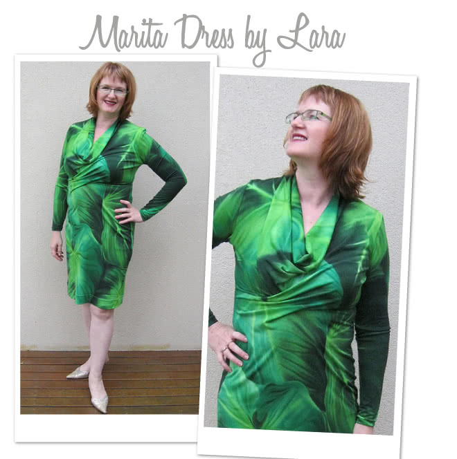 Marita Knit Dress Sewing Pattern By Lara And Style Arc - Great easy to wear knit dress