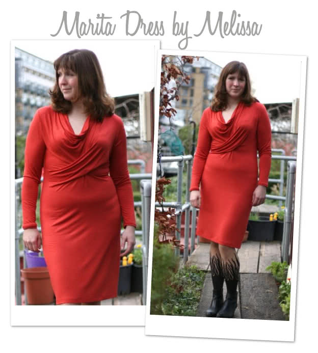 Marita Knit Dress Sewing Pattern By Melissa And Style Arc - Great easy to wear knit dress