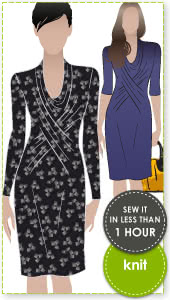 Marita Knit Dress Sewing Pattern By Style Arc - Great easy to wear knit dress