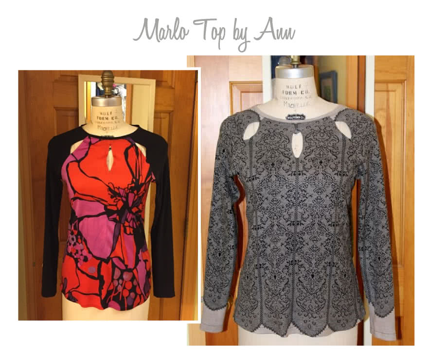 Marlo Knit Top Sewing Pattern By Ann And Style Arc - Gorgeous trendy top with interesting cut out detail