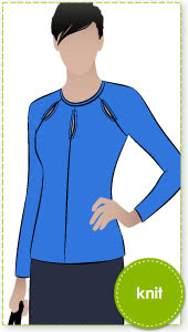 Marlo Knit Top Sewing Pattern By Style Arc - Gorgeous trendy top with interesting cut out detail