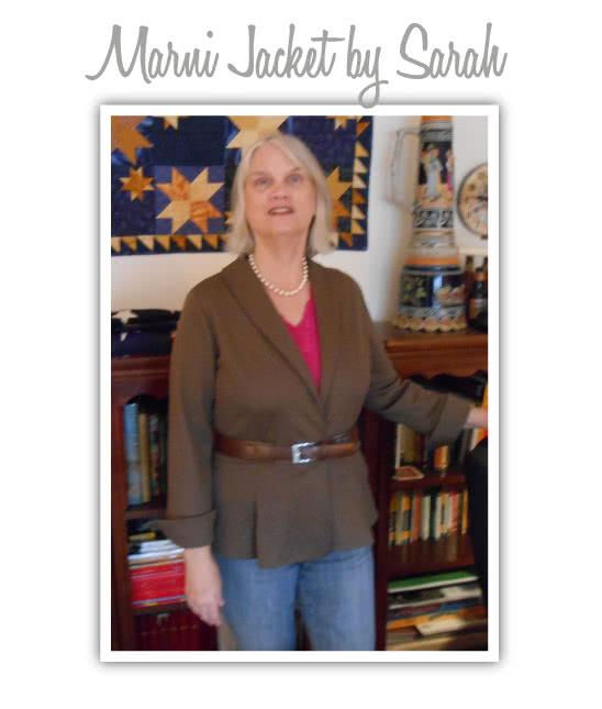 Marni Ponti Jacket Sewing Pattern By Sarah And Style Arc - Peplum style knit jacket