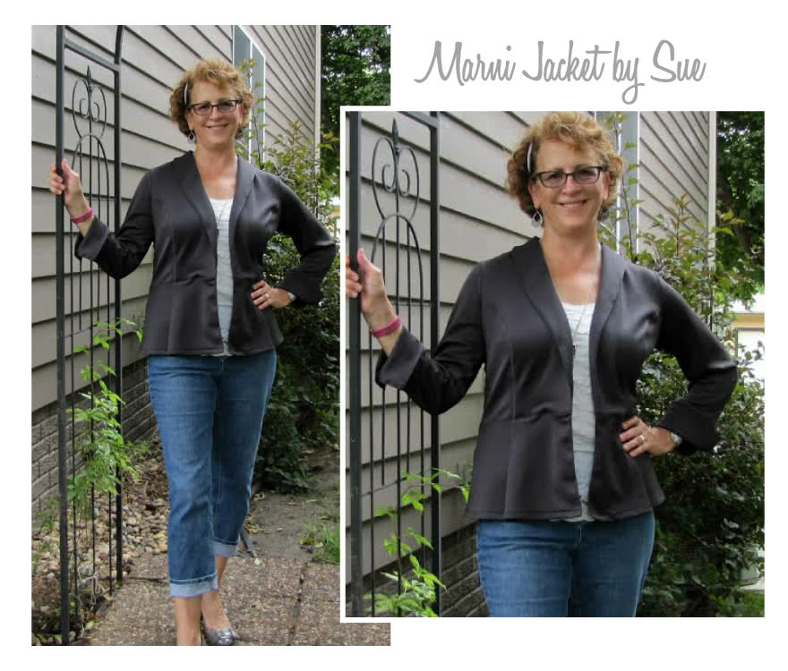 Marni Ponti Jacket Sewing Pattern By Sue And Style Arc