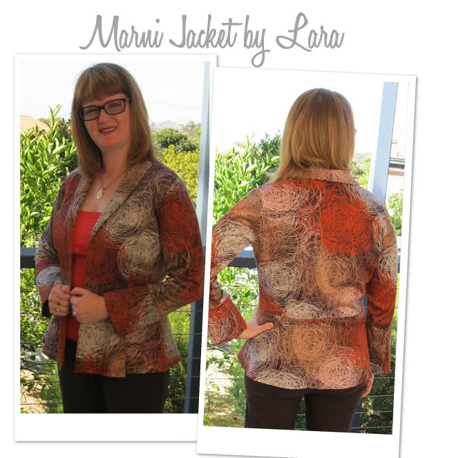 Marni Ponti Jacket Sewing Pattern By Lara And Style Arc