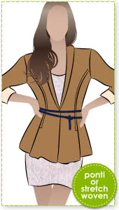 Marni Ponti Jacket Sewing Pattern By Style Arc - Peplum style knit jacket