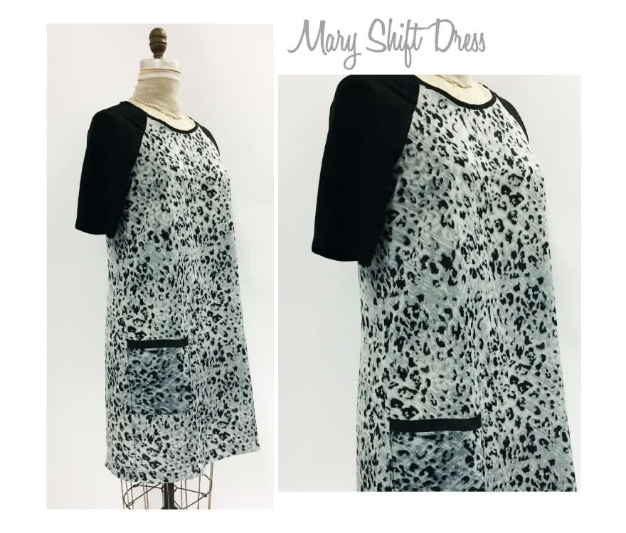 Mary Shift Dress Sewing Pattern By Style Arc