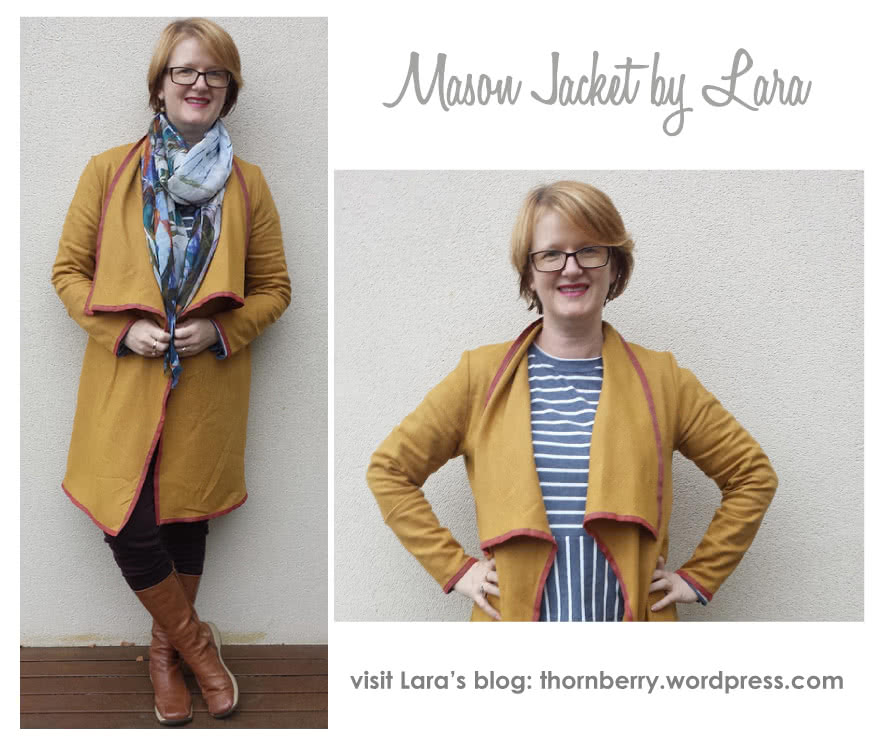 Mason Knit Jacket Sewing Pattern By Lara And Style Arc - Great ponte jacket with new fashionable collar