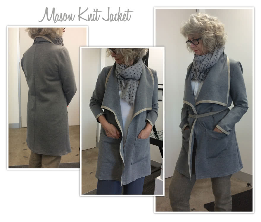 Mason Knit Jacket Sewing Pattern By Style Arc