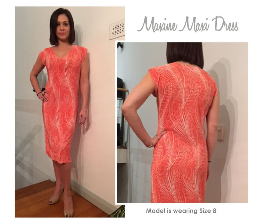 Maxine Maxi Dress Sewing Pattern By Style Arc - Maxi dress in two lengths, the must have dress of the season
