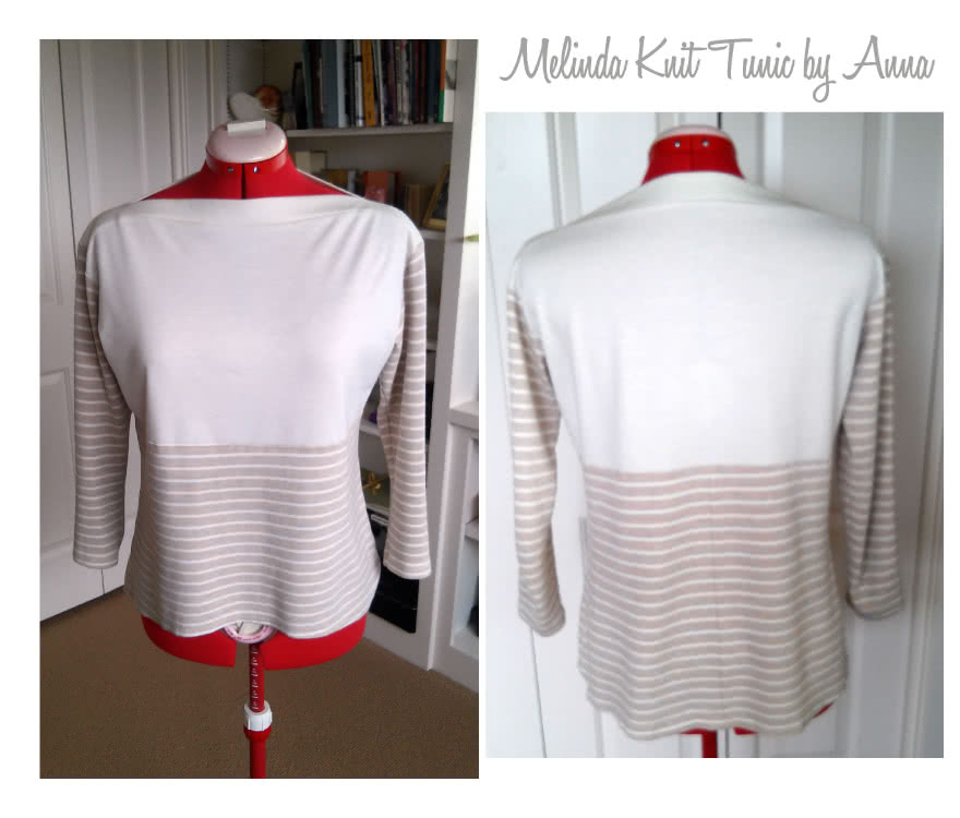 Melinda Knit Tunic Sewing Pattern By Anna And Style Arc - Boat neck tunic length top