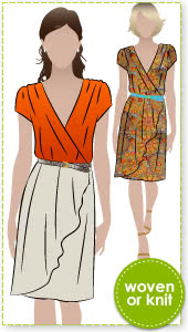 Mia Dress Sewing Pattern By Style Arc - Fantastic and versatile dress in soft woven or knit