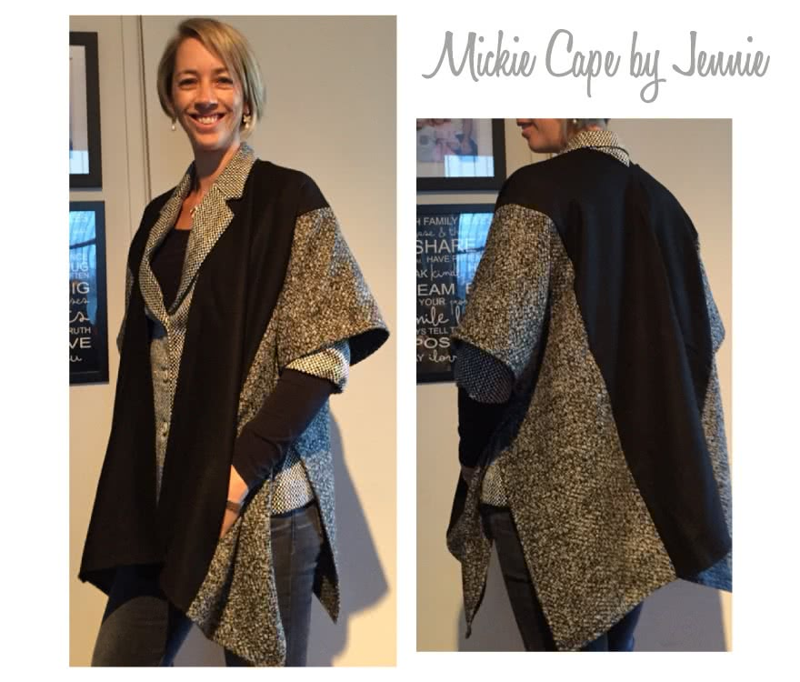 Mickie Cape Sewing Pattern By Jennie And Style Arc - Simple but sophisticated cape