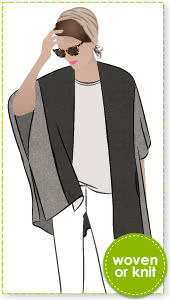 Mickie Cape Sewing Pattern By Style Arc - Simple but sophisticated cape