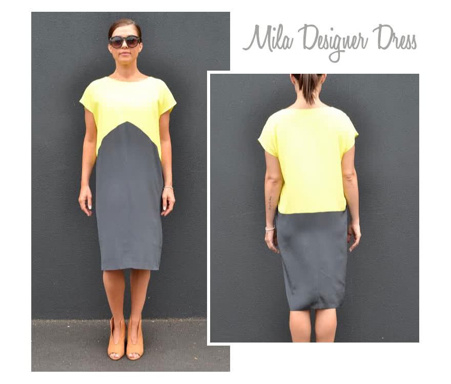 Mila Designer Dress Sewing Pattern By Style Arc - Simple but stylish slip on dress