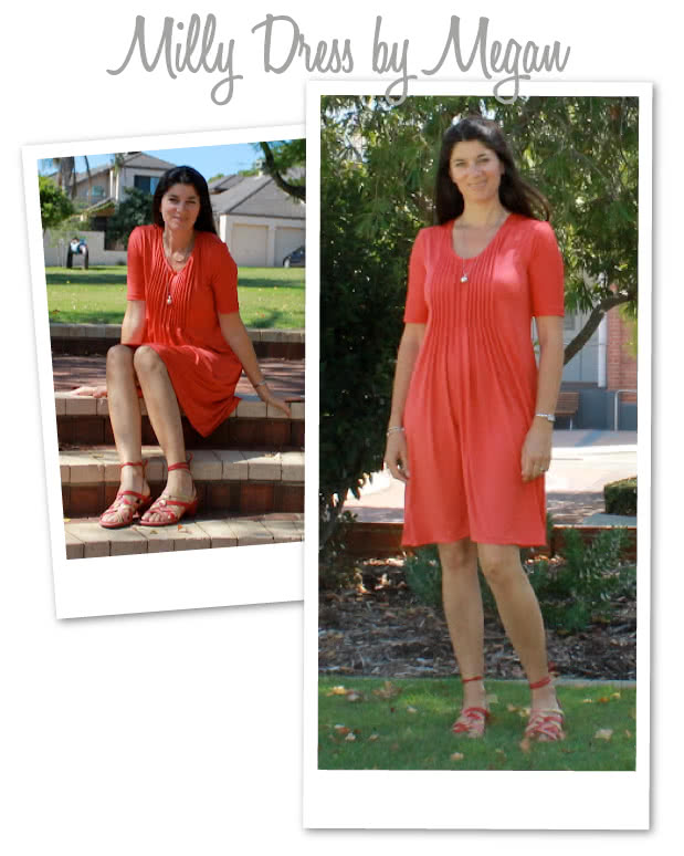 Milly Knit Dress / Top Sewing Pattern By Megan And Style Arc - Tuck front Dress/Top with long or short sleeves