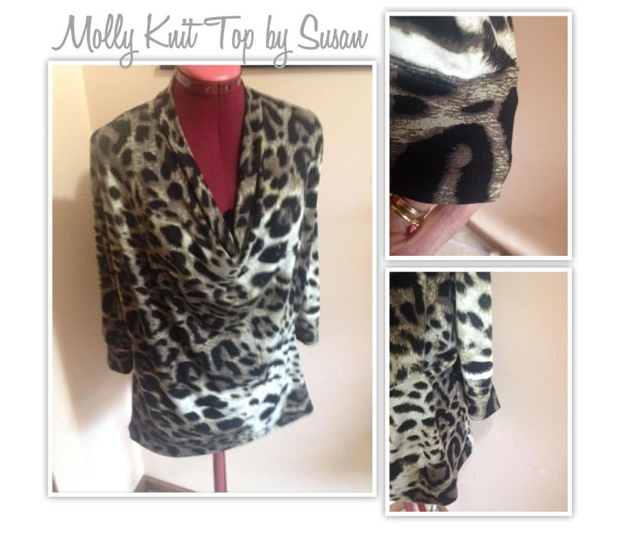 Molly Knit Top Sewing Pattern By Susan And Style Arc - New twist on the popular drape neck top