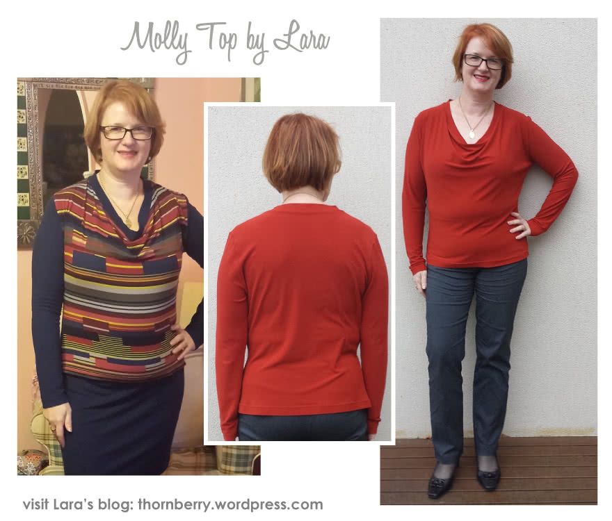 Molly Knit Top Sewing Pattern By Lara And Style Arc - New twist on the popular drape neck top