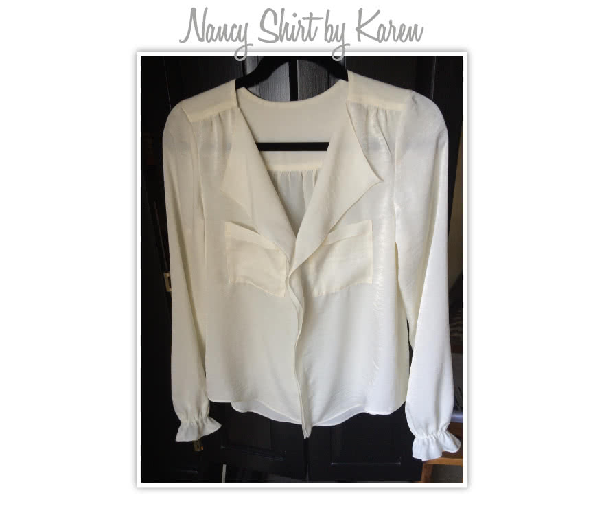 Nancy Shirt Sewing Pattern By Karen And Style Arc - Fashionable shirt with the stitched front feature