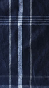 Navy Check Linen Fabric By Style Arc - Linen fabric in navy check print