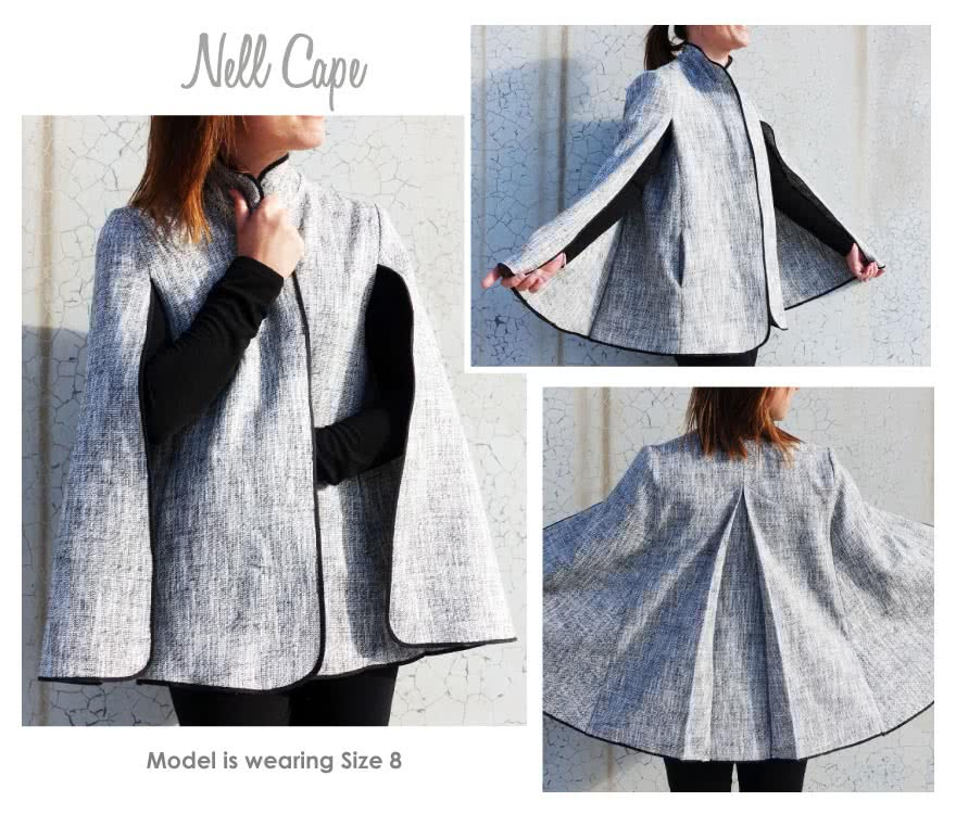 Nell Cape Sewing Pattern By Style Arc