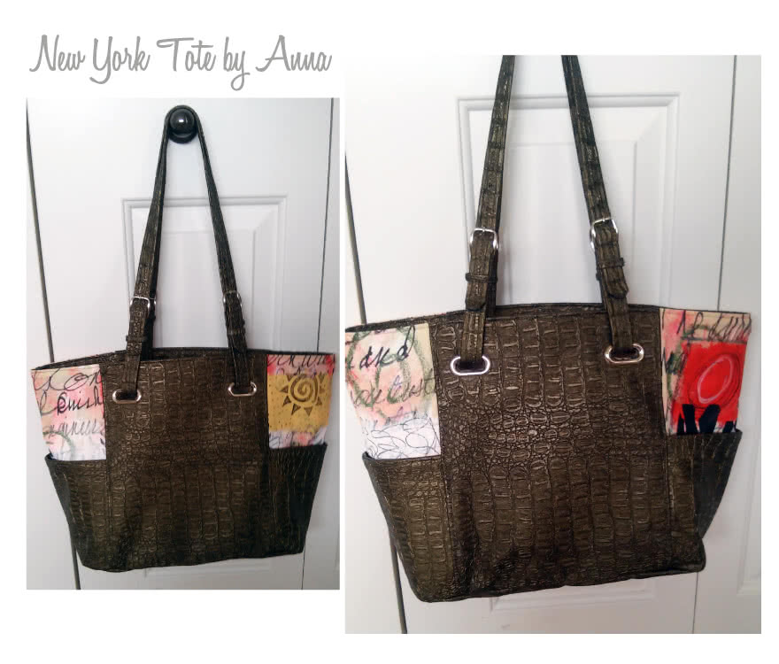 New York Tote Bag Sewing Pattern By Anna And Style Arc