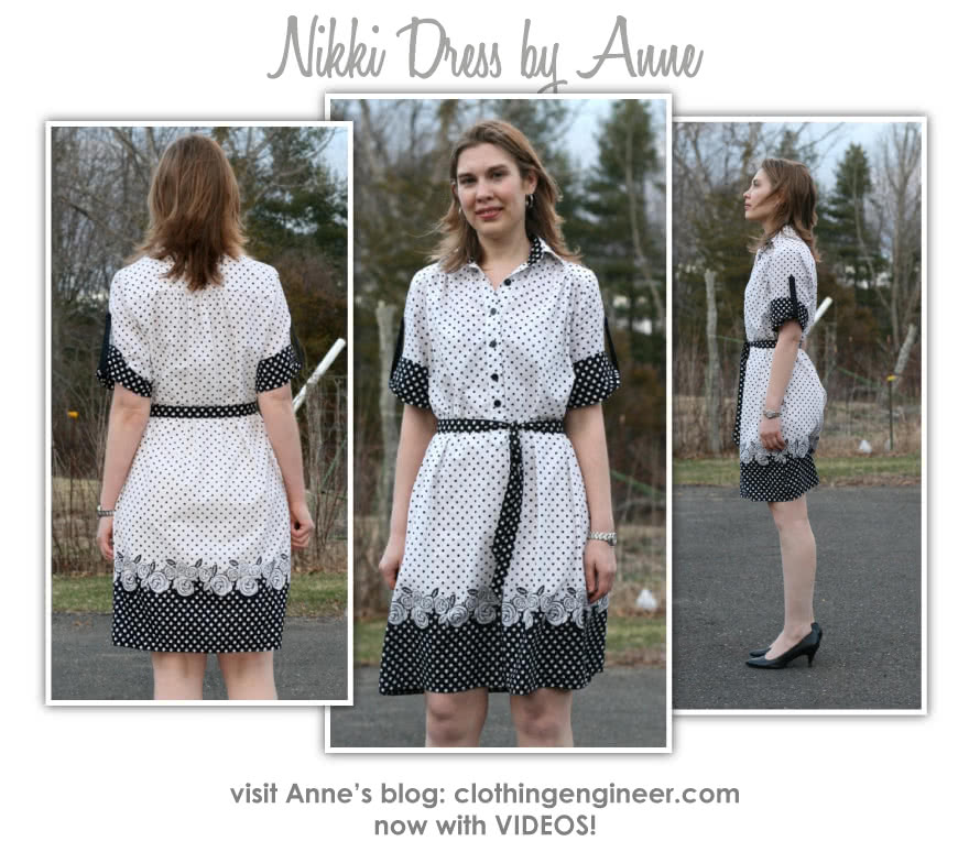 Nikki Dress Sewing Pattern By Anne And Style Arc - Breezy button front dress with roll-up sleeve