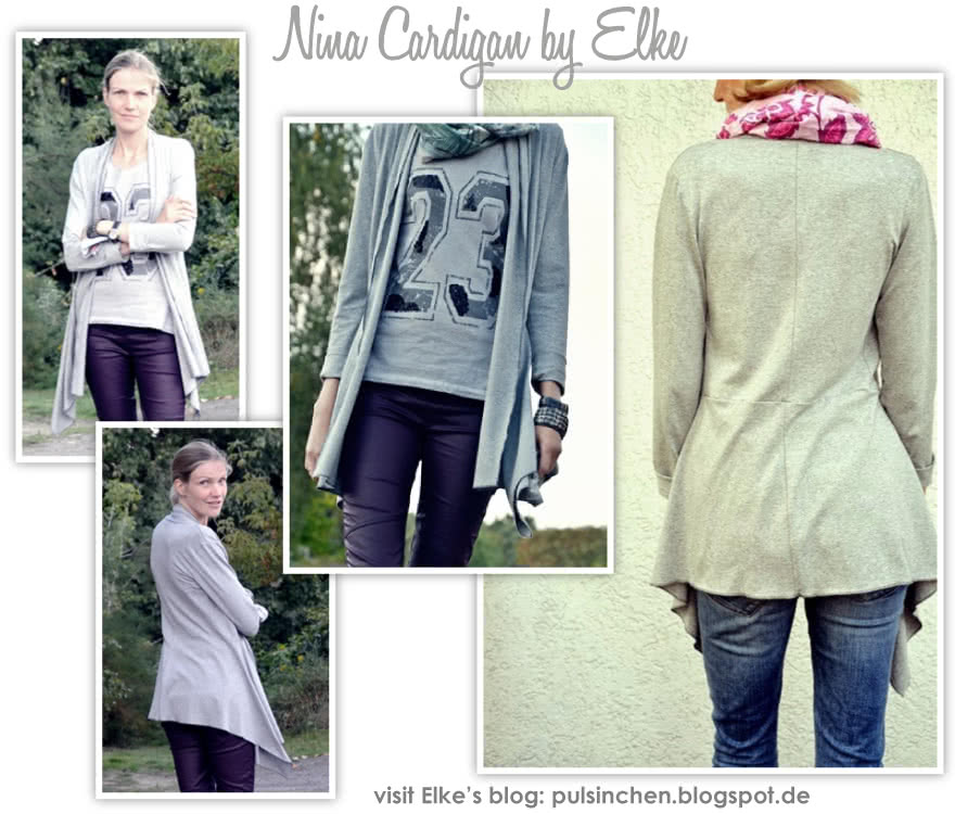 Nina Cardigan Sewing Pattern By Elke And Style Arc - Fabulous waterfall front cardigan