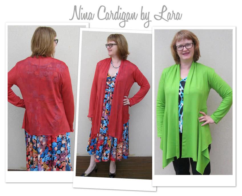 Nina Cardigan Sewing Pattern By Lara And Style Arc - Fabulous waterfall front cardigan