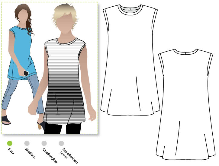 Ollie Tunic Sewing Pattern By Style Arc - Quick & simple over tunic