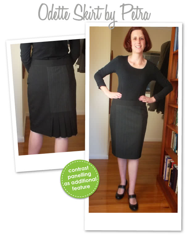 Odette Skirt Sewing Pattern By Petra And Style Arc - Slim skirt with back pleat treatment