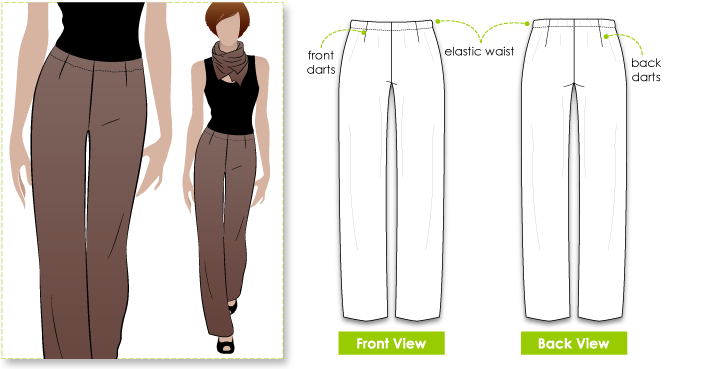 Fay Pant Sewing Pattern By Style Arc - Easy to make, easy to wear