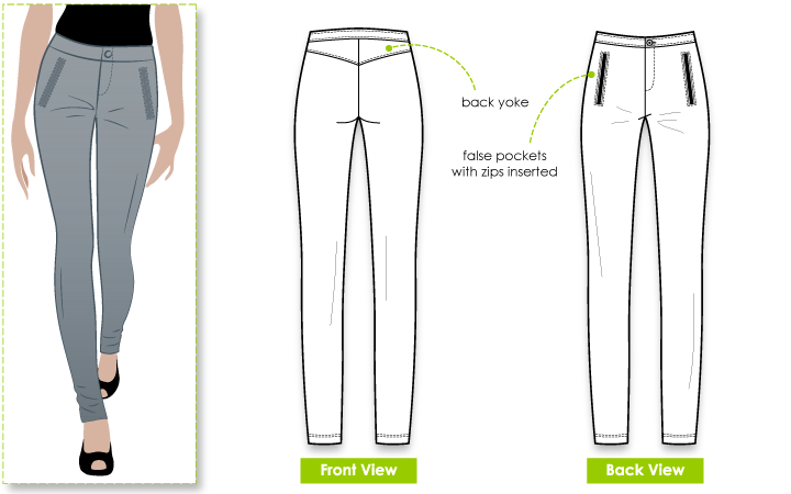 Lily Ski Pant Sewing Pattern By Style Arc - Greate legging style pant