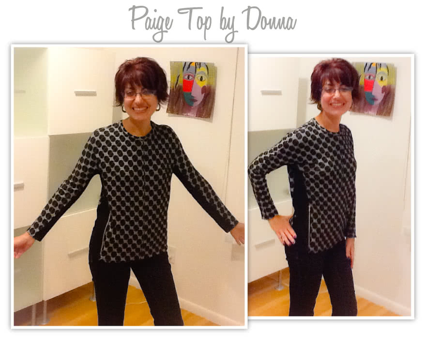 Paige Top / Dress Sewing Pattern By Donna And Style Arc - Dolman sleeve dress or top with feature zips & design lines