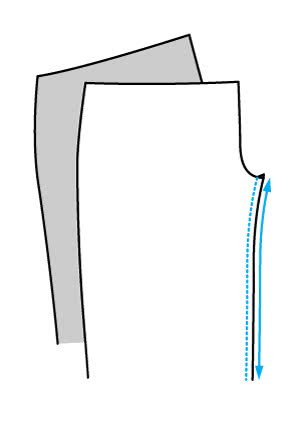 How to Sew Pants Leg, Crotch and Side Seams - Step 1