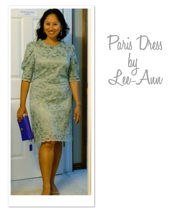 Paris Dress Sewing Pattern By Lee And Style Arc - Little black dress with padded square shoulders