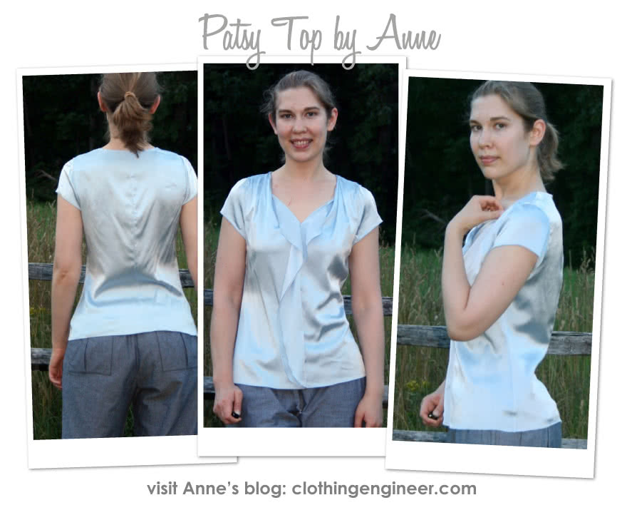 Patsy Top Sewing Pattern By Anne And Style Arc - Versatile top with clever front flounce
