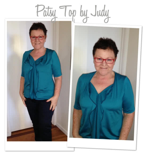 Patsy Top Sewing Pattern By Judy And Style Arc - Versatile top with clever front flounce