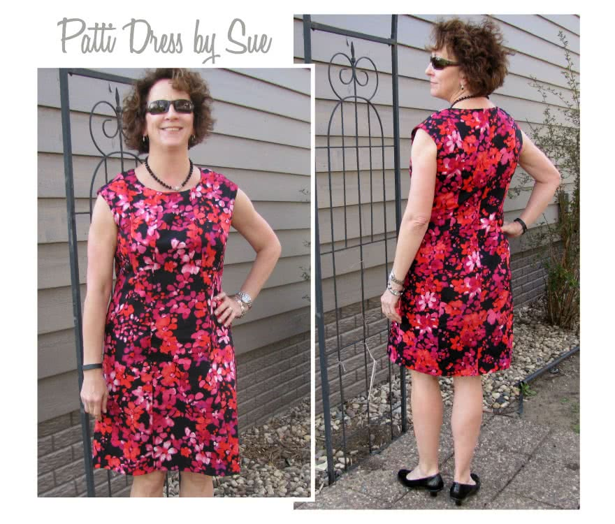 Patti Woven Dress Sewing Pattern By Sue And Style Arc - Fitted panelled dress with extended shoulder