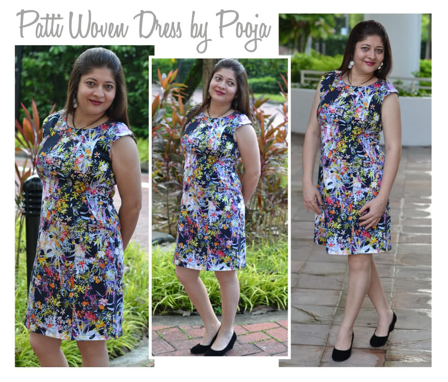 Patti Woven Dress Sewing Pattern By Pooja And Style Arc - Fitted panelled dress with extended shoulder
