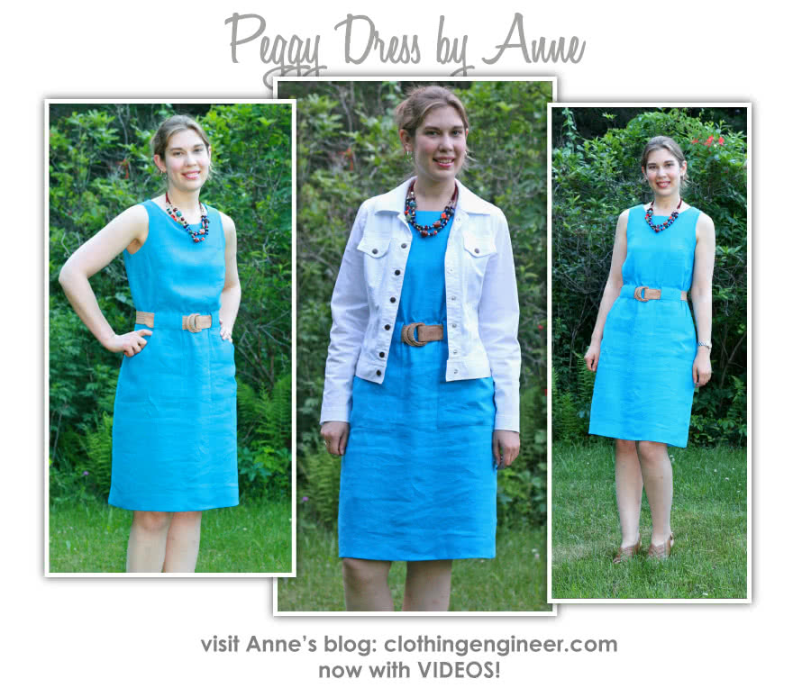 Peggy Woven Dress Sewing Pattern By Anne And Style Arc - Versatile dress - great for work.