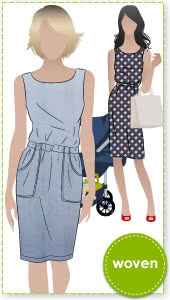 Peggy Woven Dress Sewing Pattern By Style Arc - Versatile dress - great for work.