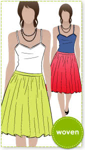 Penny Skirt Sewing Pattern By Style Arc - This is a cute dirndl look skirt