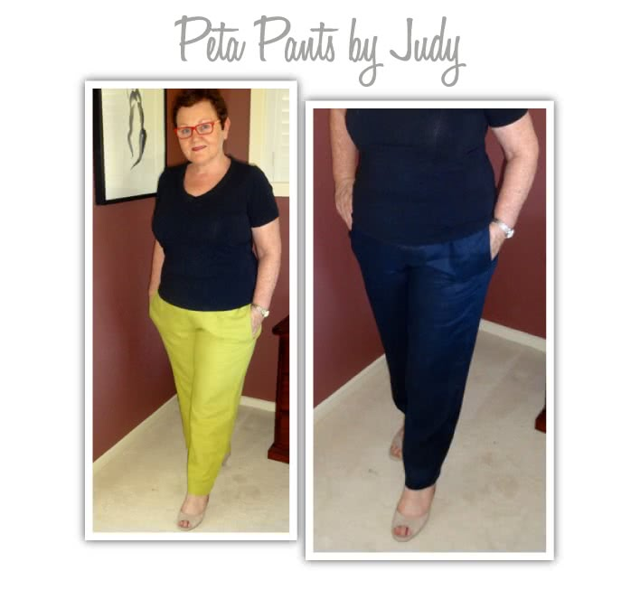 Peta Pant Sewing Pattern By Judy And Style Arc - Great pull on pant with beautiful leg shape