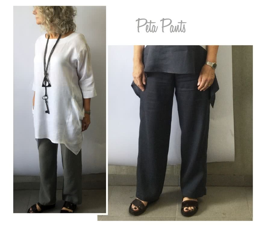 Peta Pant Sewing Pattern By Style Arc - Great pull on pant with beautiful leg shape