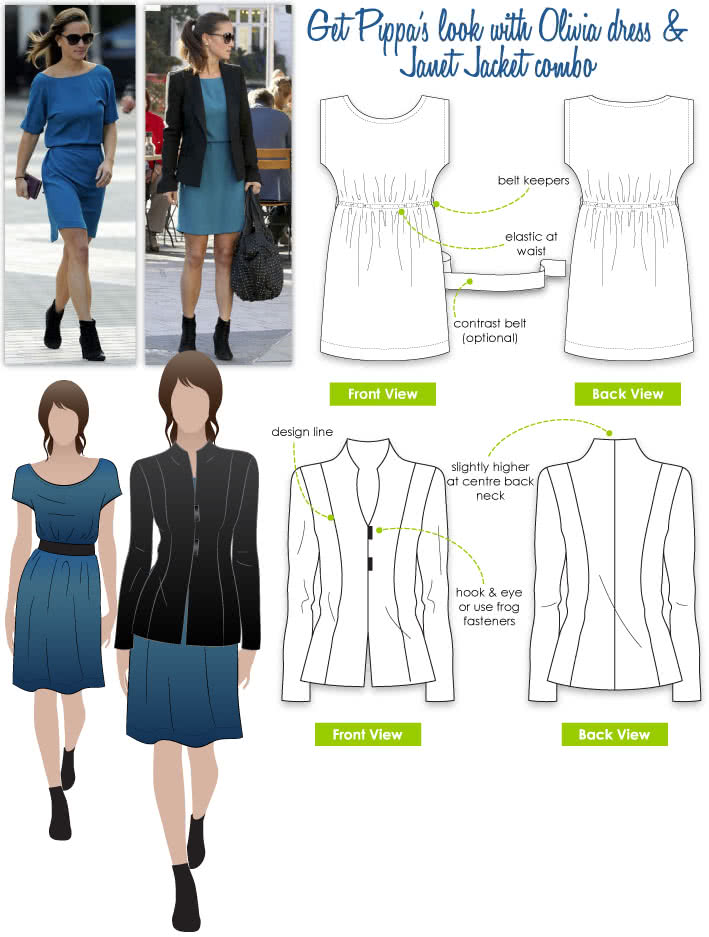 Pippa's Look No.1 Sewing Pattern Bundle By Style Arc