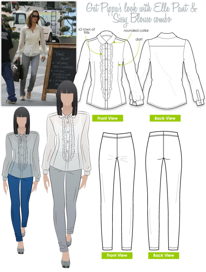 Pippa's Look No.2 Sewing Pattern Bundle By Style Arc
