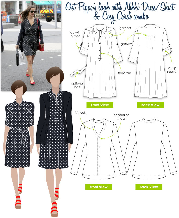 Pippa's Look No.3 Sewing Pattern Bundle By Style Arc