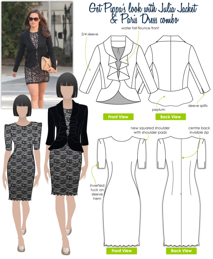 Pippa's Look No.4 Sewing Pattern Bundle By Style Arc